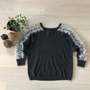 💸💸J.Crew Wool Crewneck Sweater Top Size Lace